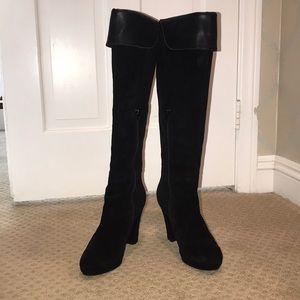 Black Knee High Heels